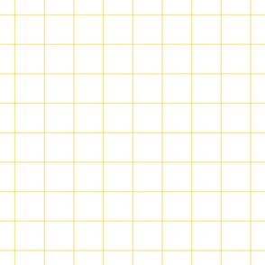 "sunshine yellow windowpane grid 2"" square check graph paper"