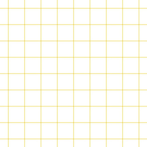 "butter yellow windowpane grid 2"" square check graph paper"