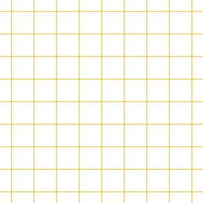 "golden honey windowpane grid 2"" square check graph paper"