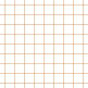 """orange windowpane grid 2"""" square check graph paper"""