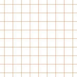 """tangerine windowpane grid 2"""" square check graph paper"""