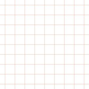 """blush windowpane grid 2"""" square check graph paper #F9CABA"""