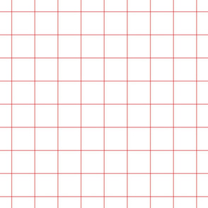"coral windowpane grid 2"" square check graph paper"