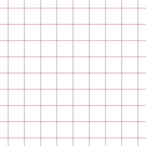 """pretty pink windowpane grid 2"""" square check graph paper"""