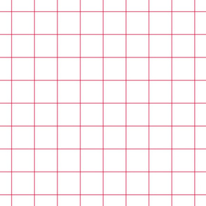 "hot pink windowpane grid 2"" square check graph paper"