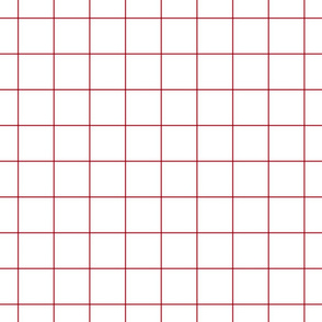 """red windowpane grid 2"""" square check graph paper"""