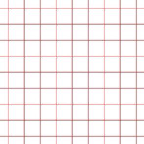 """dark red windowpane grid 2"""" square check graph paper"""