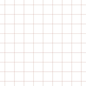 "dusty pink windowpane grid 2"" square check graph paper"