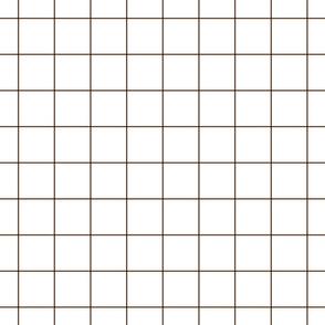"""brown windowpane grid 2"""" square check graph paper"""