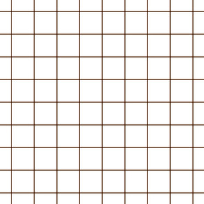 "chocolate brown windowpane grid 2"" square check graph paper"