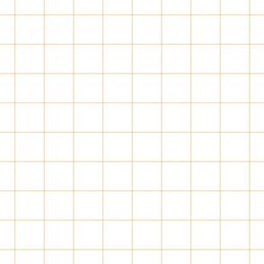 """creamy banana windowpane grid 2"""" square check graph paper"""