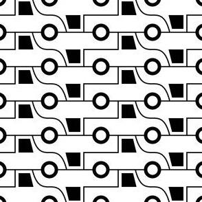 06118305 : pick-up truck 2 : black + white