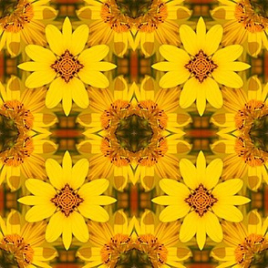 Yellow Flowers Abstract 8