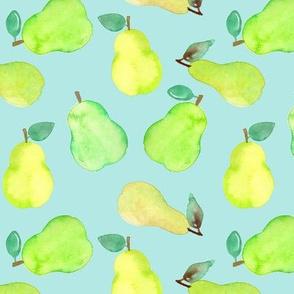 Pear Watercolour on mint