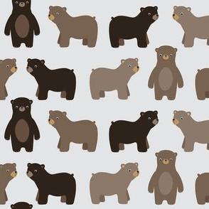 Bears on grey