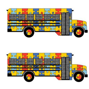 Autism Awareness school bus