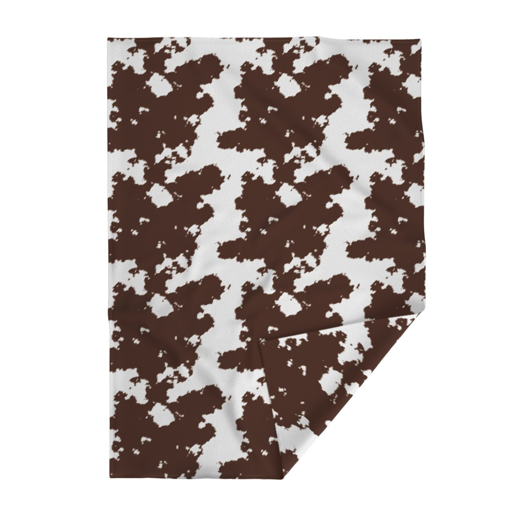 Lakenvelder Throw Blanket featuring Realistic Brown Cow Hide Animal Print by themadcraftduckie