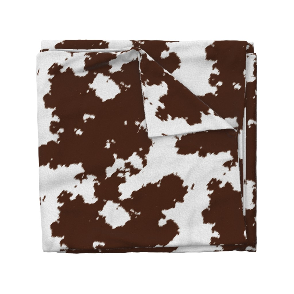 Wyandotte Duvet Cover featuring Realistic Brown Cow Hide Animal Print by themadcraftduckie