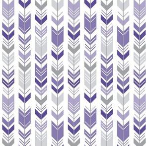 herringbone arrows purple
