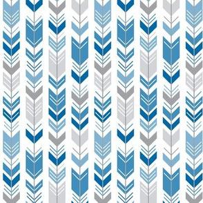 herringbone arrows royal blue