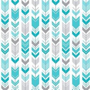 herringbone arrows surfer blue