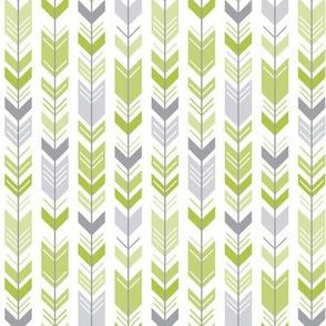 herringbone arrows lime green