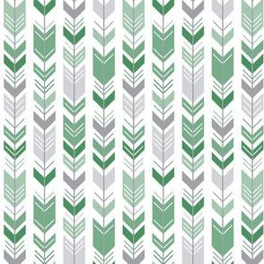 herringbone arrows kelly green