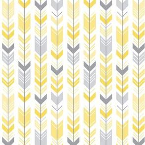 herringbone arrows butter yellow