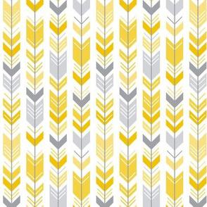 herringbone arrows mustard yellow