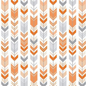 herringbone arrows orange