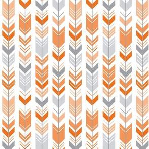 herringbone arrows orange