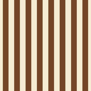 stripes chocolate brown + winter white