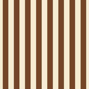 stripes chocolate brown + winter white