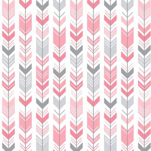 herringbone arrows pretty pink