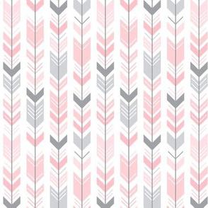 herringbone arrows light pink