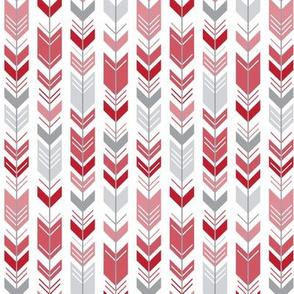 herringbone arrows red
