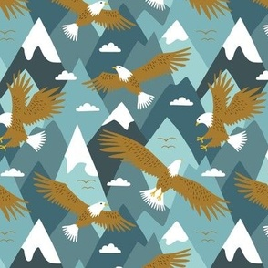 Eagle in the mountain sky (small)