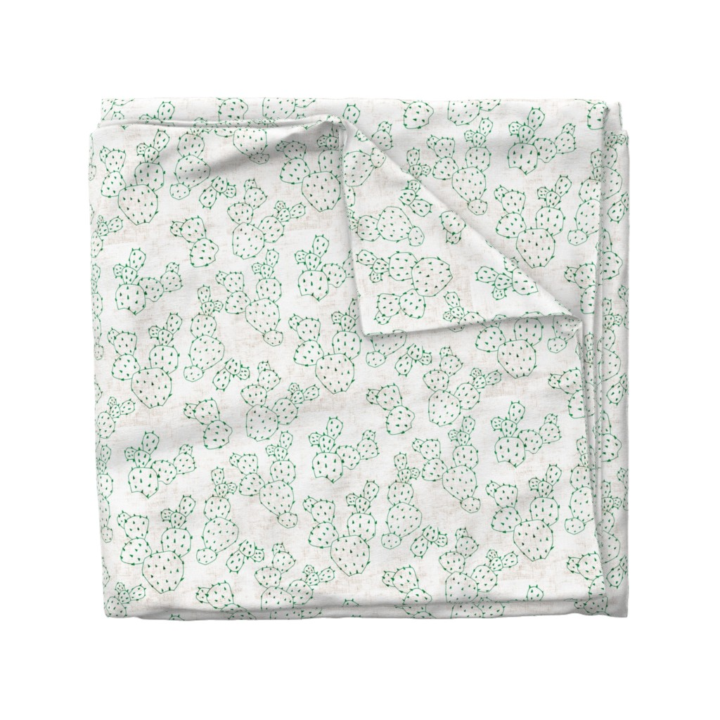 Wyandotte Duvet Cover featuring FRENCH_LINEN_CACTUS by holli_zollinger