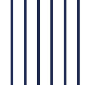 Thin Stripes Navy on White Vertical