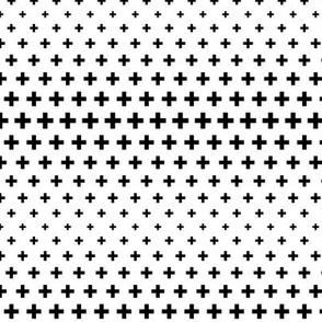 halftone crosses black