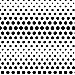 halftone dots black