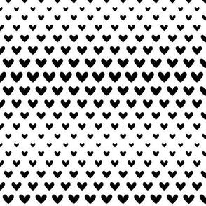 halftone hearts black