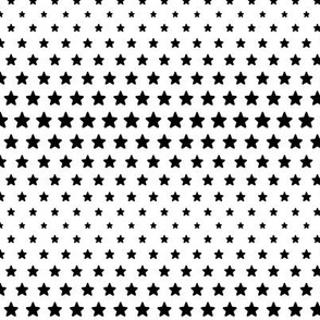 halftone stars black