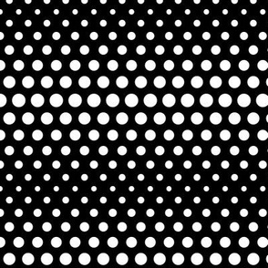 halftone dots black reversed