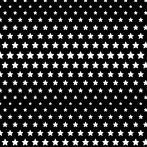 halftone stars black reversed