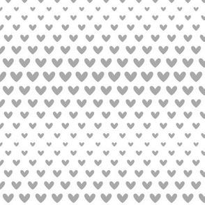 halftone hearts grey