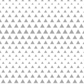 halftone triangles grey