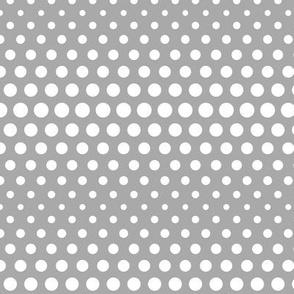 halftone dots grey reversed