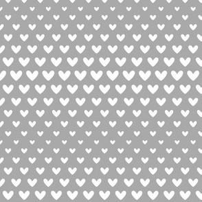 halftone hearts grey reversed