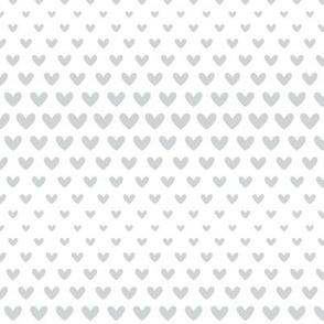 halftone hearts light grey